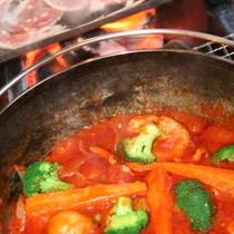 【露天風呂付コンドミニアム】〜テラスでバーベキューパーティー!ダッチオーブンで野菜もトロトロに♪〜