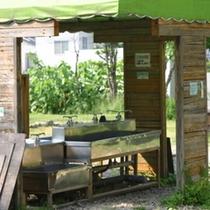 【朝里川温泉オートキャンプ場】もちろん炊事場もございます♪