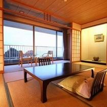 正面に三四郎島が一望できる和室