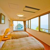 ■三四郎島・百選の夕陽を一望■10帖和室+ツイン 特別和洋室