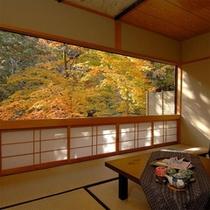 【10畳+4.5畳和室】川音と秋の風情を楽しんで