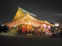 浅草寺夜斜め