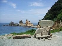 波勝崎野猿公園内の海です。