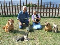 我が家の家族 橋本みおさんの作品の動物たちと共に