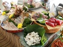【夕食バイキング】三河湾の海の幸をメインとした約50種類の夕食バイキング。