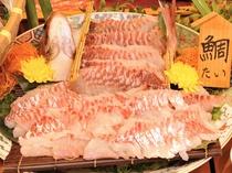 【夕食バイキング】鯛のおつくり※メニューは変更の場合がございます。