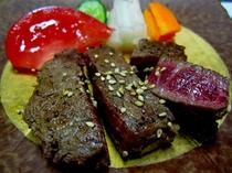 黒毛和牛の肉ステーキ