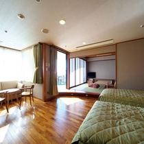 【5F禁煙和洋室】森をイメージした心休まる癒しの空間です。(客室一例)