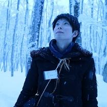 【スノーシュー体験】美人林でスノーシューできます!