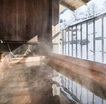 【客室露天風呂】ふたつのお部屋限定で、客室露天風呂をご用意しております。薬湯を独り占めできます♪