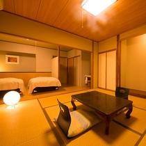 【貸切風呂付8畳+ベッドルーム】貸切風呂とバリアフリーのお部屋で、誰にも気を遣わない贅沢なひと時を。