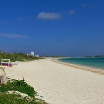 *当館目の前の「イーフビーチ」はプライベート利用感覚♪
