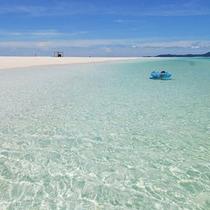 *【はての浜】海の透明度は抜群!潜らなくても魚たちが見えますよ