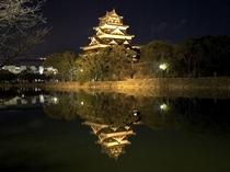 広島城(ライトアップ時)