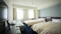 ツインルーム(広さ19.5㎡/ベッド幅120cm×2台)