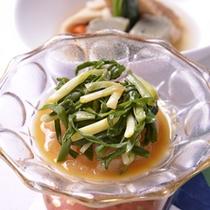 *お夕食一例(アサツキ)/新鮮な浅葱をサッと茹でて、さっぱり酢味噌和えに。