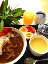 朝食 カレー