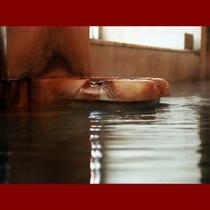 【男湯】源泉が湧き出す湯口