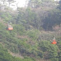 【御在所岳ロープウェー】所要時間約12分の空中散歩をお楽しみください