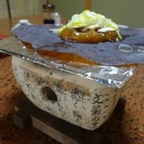 朝食朴葉味噌