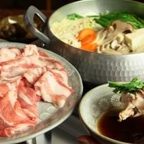 料理-白馬の豚鍋 _全体_アップ