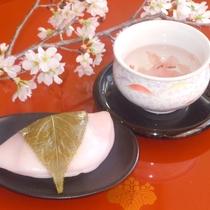 特典:桜もちと桜茶