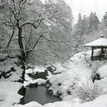 憾満ガ淵(冬)ホテルから車で10分