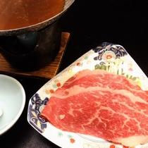 牛しゃぶ(すき焼き風)
