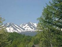 宿から望む乗鞍岳