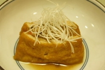料理例10:厚揚げはさみ煮