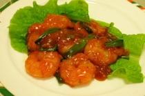 料理例2:エビのチリソース煮