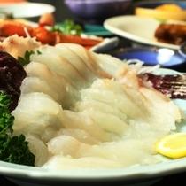 夕食_別注料理_おこぜの刺身