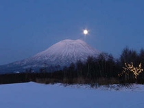 初冬の羊蹄山
