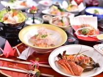 季節のお料理(伊勢海老と金目鯛)