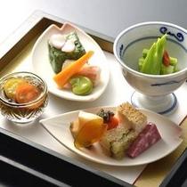 桜懐石 前菜