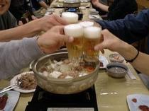 お鍋で乾杯!