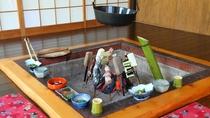 囲炉裏料理(田楽)