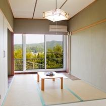 (客室)山側から海を眺められる和室