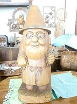 木彫りの小人