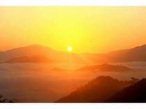 竹田城の日の出。