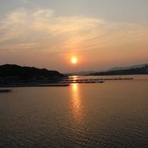 英虞湾の夕日、サンセットクルーズにて
