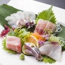 海鮮味覚プラン「地魚5点盛り」
