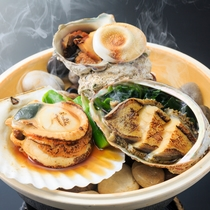 2016年夏の海鮮美食プランの「海鮮陶板焼」