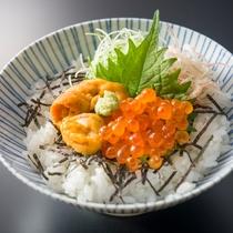 海鮮美食プランのうにいくらご飯