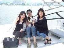 これからワンちゃんと一緒に浜名湖遊覧に行ってきます、。