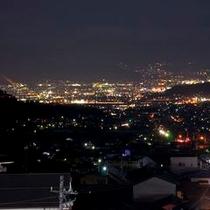 展望絶景のお部屋からの夜景