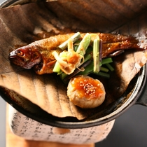 ■虹鱒の甘露煮。頭から丸ごと食べられる柔らかさ!