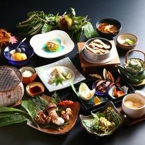 【秋季限定】松茸会席。こだわりの松茸料理をご堪能下さい。