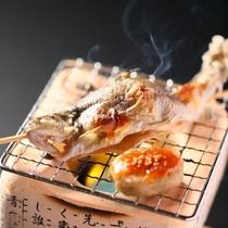 ■【基本】いわな塩焼き。炭火焼きの香ばしくアツアツの焼き立てをご賞味ください