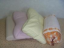 貸し出し枕もそろっています